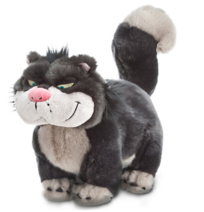 Cinderella Lucifer Cat Plush Toy 46cm Bad Cat Lucifer Plush Toys original cinderella bad cat lucifer big soft plush toy doll birthday gift limited collection children gift