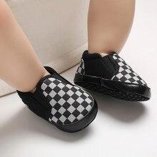 0-18M Cute Newborn Boy Girl Baby Shoes Plaid Soft Sole Crib