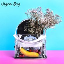 Fashion Transparent Clear Plastic Waterproof Backpack for Teenagers Girls Women Transparent Shoulder Bag High Quality