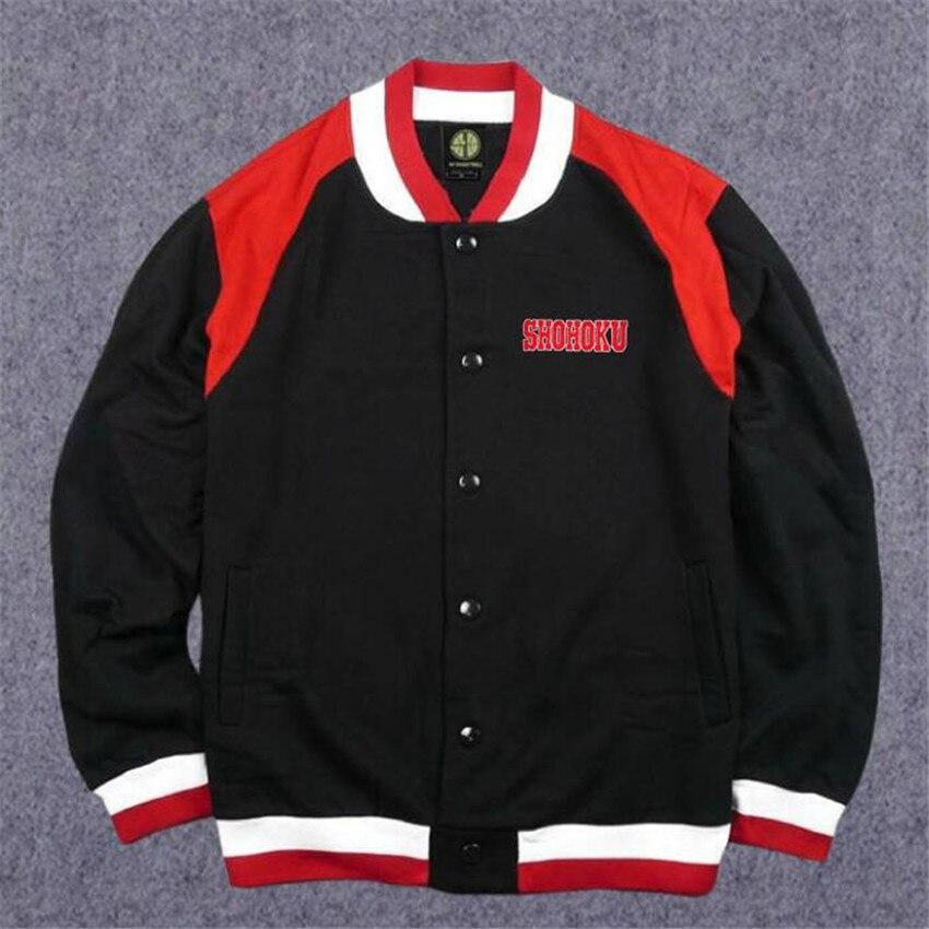 Anime SLAM DUNK Shohoku Cosplay Costumes Basketball Hoodie Coat Casual Jacket Sweatshirts