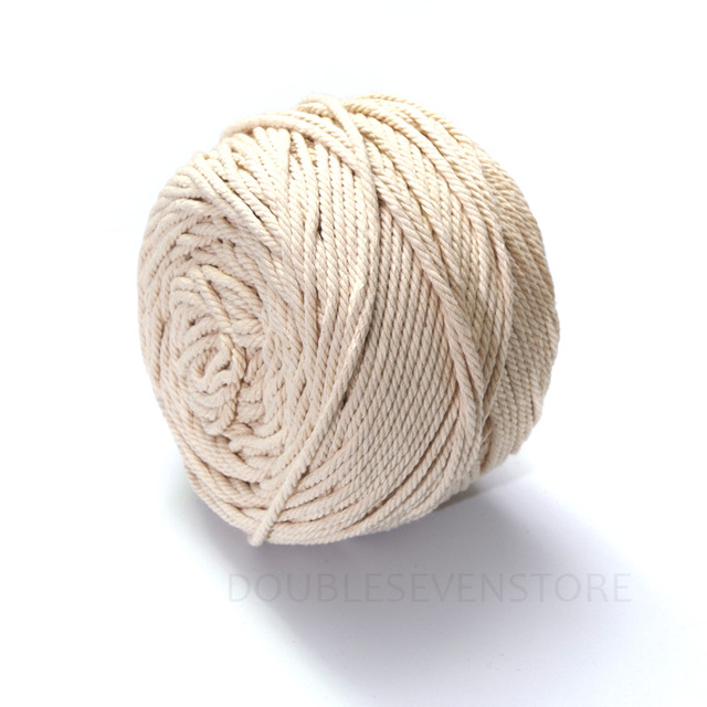 3mm 5mm braided woven twisted cotton cord diy beading - Corde decorative ...