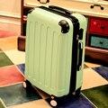 Equipaje ruedas universales hembra carro de equipaje bolsa de viaje macho duro caso bolsa de equipaje 20 22 24 26 28 sets, color del caramelo equipaje