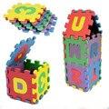 36 Шт./компл. Унисекс Мини Детей Головоломки Малыш Игрушки Обучающие 3D Puzzle Алфавит AZ Письма Цифра Мягкая Пена Мат Rompecabezas