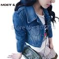 Spring Woman Girls New Princess Denim Jacket Distressed Crop Outerwear Coat Worn White Washed Short Jeans Jacket #C46017