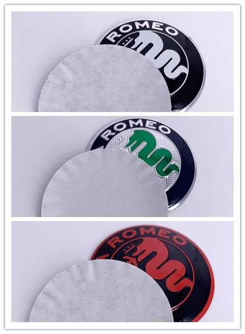 200pcs 5 6cm 50mm black color Alfa Romeo GT CAR Tyre Wheel Center Hub Cap Sticker