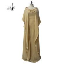 Elegante Plus Size Abendkleider 2017 Real Photo Dubai Kaftan Chiffon Champagne Perlen Mutter der Braut Kleider Prom Party