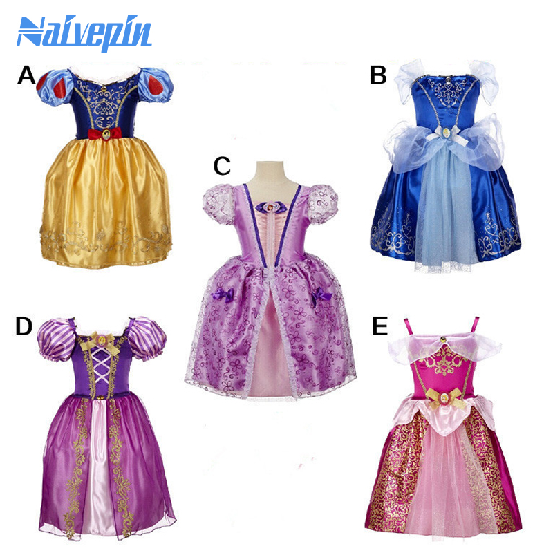 Kids Cosplay Costume Dress Cinderella Elsa Baby Girls: 2016 New Fashion Children Kids Cosplay Costume Dresses