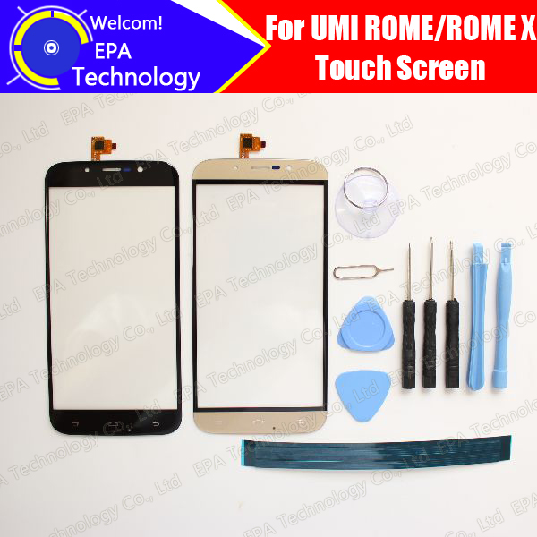 UMI ROME/ROME X Touch Screen Digitizer glass 100% High Quality Touch Screen Digitizer for UMI ROME ROME X + Free Tools+Adhesive