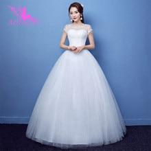 AIJINGYU, роскошные,, новинка,, дешевое бальное платье на шнуровке сзади, вечерние свадебные платья, свадебное платье FU273