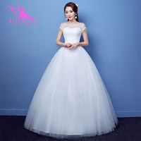 AIJINGYU 2018 luxury free shipping new hot selling cheap ball gown lace up back formal bride dresses wedding dress FU273