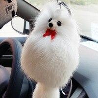 Piękny Istny Fox Fur Pom Pom Breloki Brelok Brelok Pluszowy Samochód Zawieszka Lalka Lisy Torebka Breloki Klucz Wiolinowy Porte