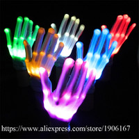 10 Pairs Colorfu Led Gloves Luminous Party Supplies Dancing Club Stage Props Light Up Toys Glowing