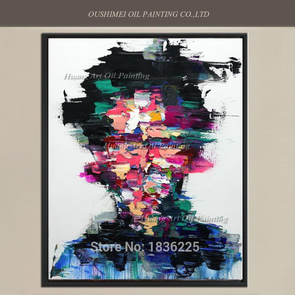 Nieuwe handgeschilderde moderne abstracte mes gezicht - Huisdecoratie