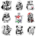 Christmas Kitten Charms 925 Silver Charms European Dog Charms for Jewelry Making Hand Made Diy Beads Fit for Pandora Bracelets
