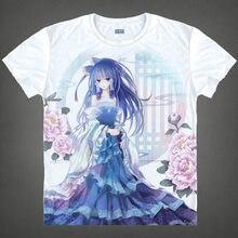 Anime touhou Project Hakurei Reimu Cosplay Camiseta de Moda T-shirt de Algodón Tops Camiseta Para Las Mujeres