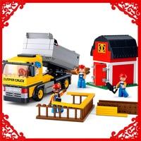 SLUBAN 0552 Block Compatible Legoe Engineering Dumper Truck Model 384Pcs DIY Educational Building Toys Gift For