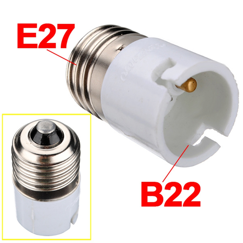 E27 To B22 Fitting Light Lamp Bulb Adapter Converter Universal Light Converter Socket Change