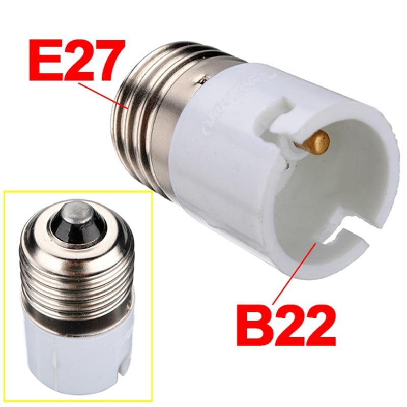 E27 To B22 Fitting Light Lamp Bulb Adapter Converter Universal Light Converter Socket Change