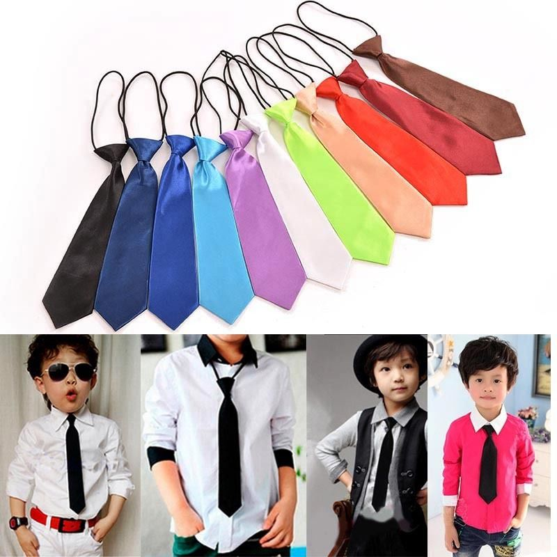 1 Pc Boy Tie Classic Kid Suit Boy Baby Fashion Classic 11 Solid Color Adjustable Bowtie Red Black White Chlidren Bow Tie Necktie