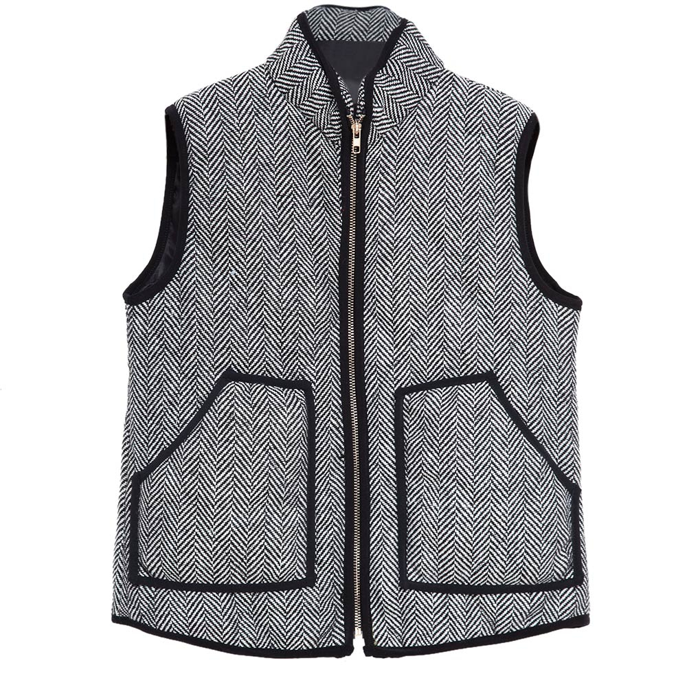 VESTLINDA Vest Women Winter Casual Jacket Vest Coat Veste Femme Striped Hooded Waistcoat Fashion Zipper Short Vest Plus Size 9