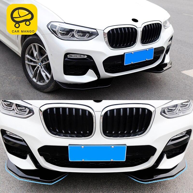 CarManGo For 2018 BMW X3 G01 Car front bumper both side cover trim frame sticker accessories