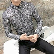 Новая мода,, бренд, весна-осень, мужская повседневная Высококачественная легкая верхняя одежда, мужские тонкие сексуальные рубашки в Корейском стиле