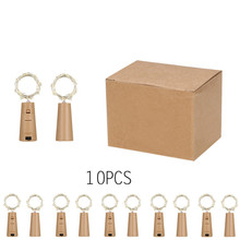 Included Batteries 10PCS Led Bottle Cork String Light Waterp