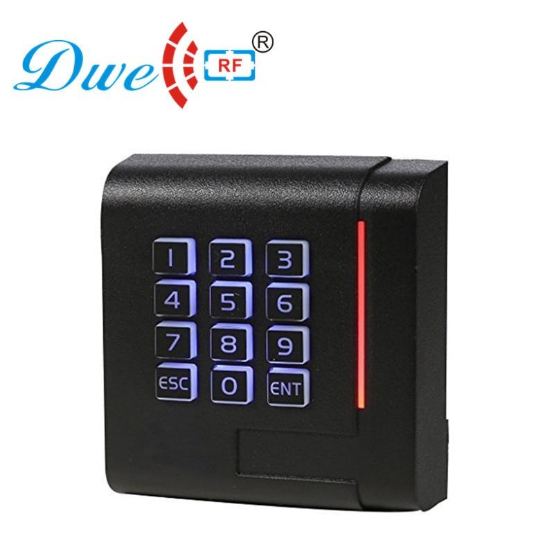 DWE CC RF control card readers proximity password door access control keypad wiegand rfid card reader 125khz scanner rf dwe cc rf 13 56mhz keypad access controller rfid pin card reader for access control system dw m03