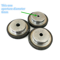 J547b Module 1 Firm DIY Model Making Gears Inner Hole Diameter 6mm Large 45 Steel Gears
