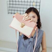 Women's small bag Korean version of the color mobile phone bag shoulder bag summer new sweet lady Messenger lock purse цена в Москве и Питере