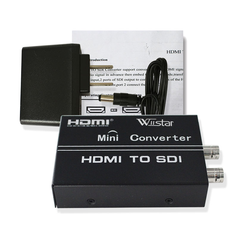 цена на Wiistar HDMI to SDI Converter 2 HDMI In 2 SDI Out Adapter 1080P Support SD HD 3G-SDI for Monitor HDTV HDMI to BNC