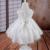 21802t-8 lindo libre del envío de marfil infantil dress 2016 new baby dress bordado 1 año de cumpleaños de la niña dress fábrica al por mayor