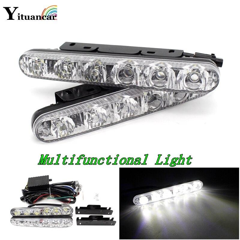 Yituancar 2X többfunkciós LED DRL nappali világítású, - Autó világítás