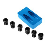 Pocket Hole Jig Kit 6/8/10mm 15 Degree Angle Adapter Drill Hole Guide Woodworking Drive Adapter Wood Tool