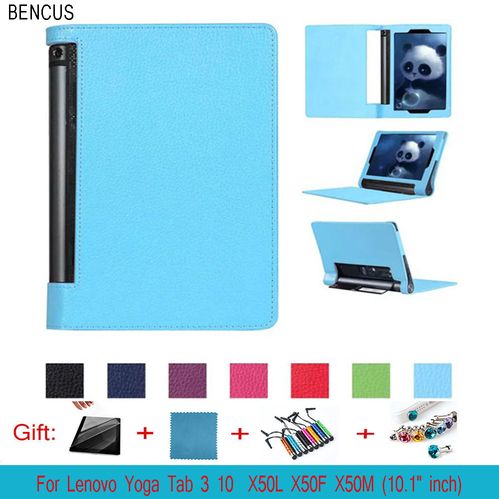 BENCUS For Lenovo Yoga Tab 3 10 X50L X50F X50M 10.1 inchCase KST PU Leather Smart Cover Case Skin Shell Sleep Wake Up Function