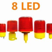 Warning-Light Road-Cone Traffic Solar-Powered LED Strobe