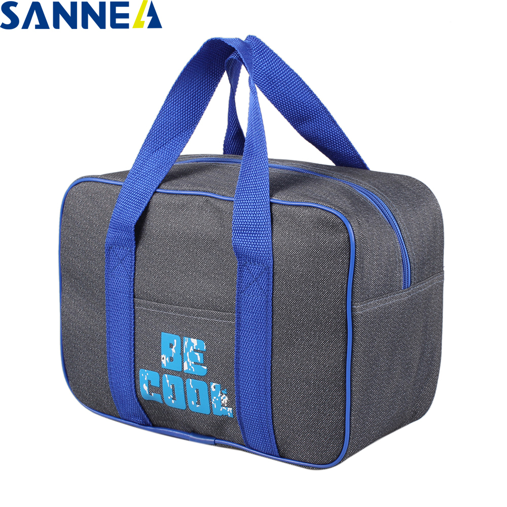 SANNE Classical Thermo Lunch Bags Cooler Insulated Lunch Bags New Thermal Bag Lunch Box Food Picnic Package Tote Handbags CL1916