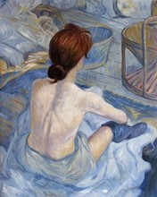 Portrait Art Female Painting Woman at Her Toil Henri de Toulouse-Lautrec Canvas Oil for Living Room 100%Hand Painted