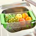 Kitchen sink shelf bowl rack retractable drain rack