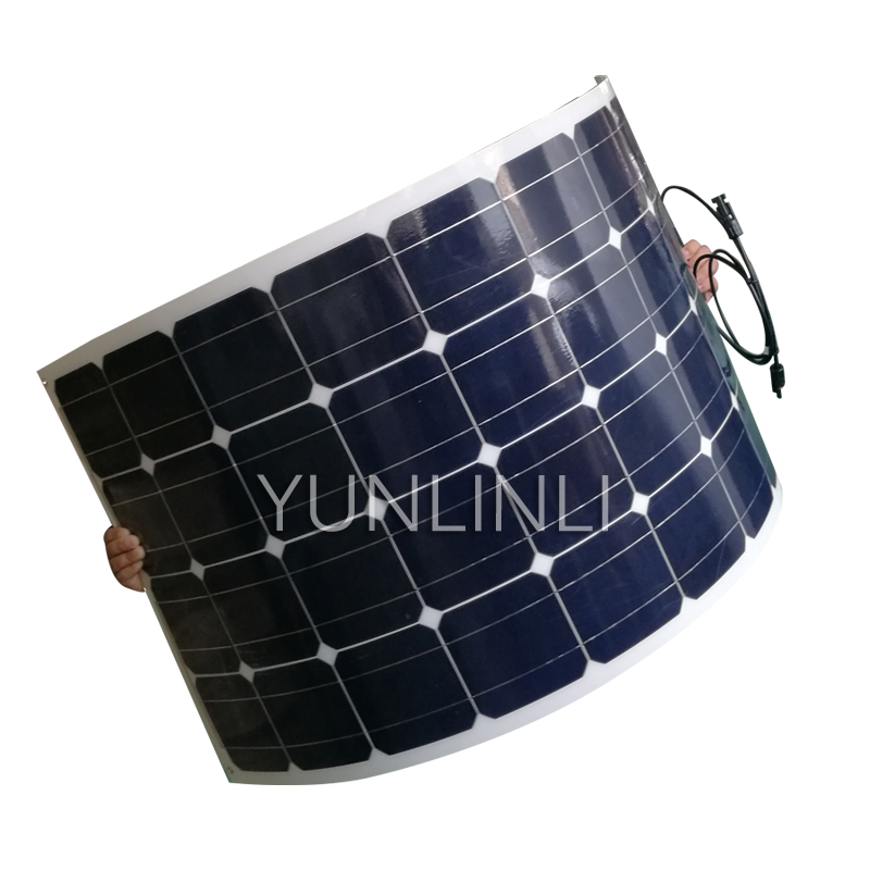 100W Single Crystal Flexible Car Top Solar Panel 12v Off-road Vehicle RV Modified Charger PVM 100100W Single Crystal Flexible Car Top Solar Panel 12v Off-road Vehicle RV Modified Charger PVM 100