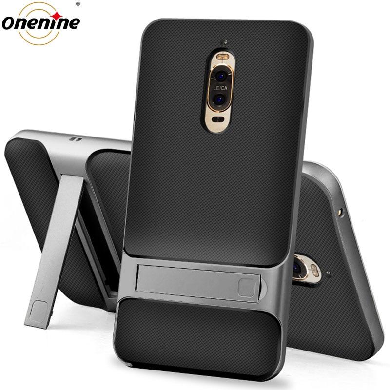 3D Kickstand Luxus-Hüllen für Huawei Mate 9 Pro Abdeckung TPU + PC Silikon 360 Schutz Handy Rückenrüstung Mate9Pro Mate9 9Pro