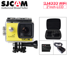 Battery+Charger+Bag ~ Original SJCAM SJ4000 WiFi Action Camera Sport SJ Cam Underwater 4K Wifi Gyro Mini Camcorder Waterproof DV