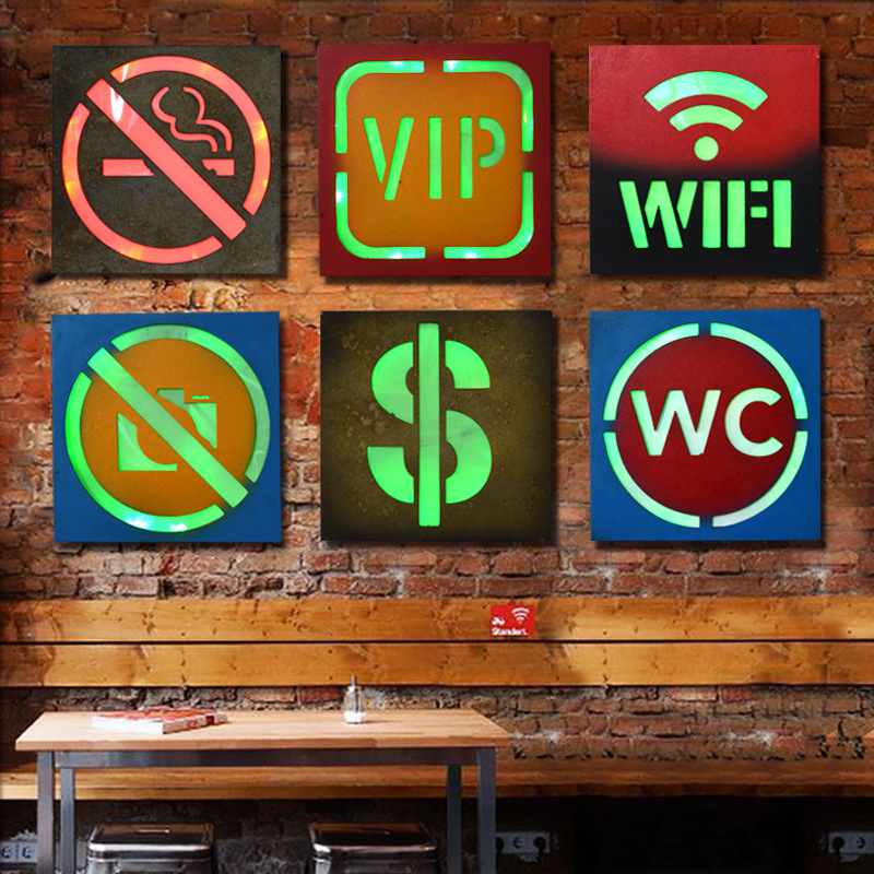 21 Styles Vintage Home Decor Led Neon Sign Restaurant Bar Cafe Decorative Signboard Wall