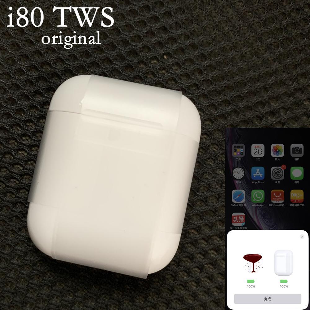 1 pièces/i80 TWS Pop up animation Bluetooth écouteur Mini Bluetooth sans fil écouteur in-ear casque Earbods PK i30 i20 pas w1 puce