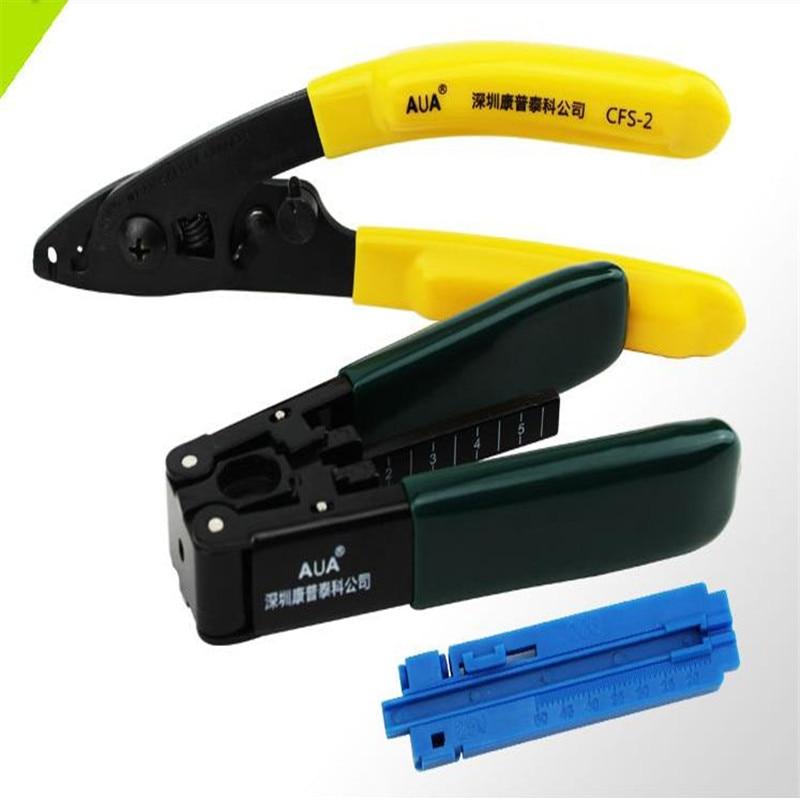 FTTH Splice fiberoptisk værktøjssæt Covered wire stripping device + Fiber Optic Stripping Tool + Fastlength rail
