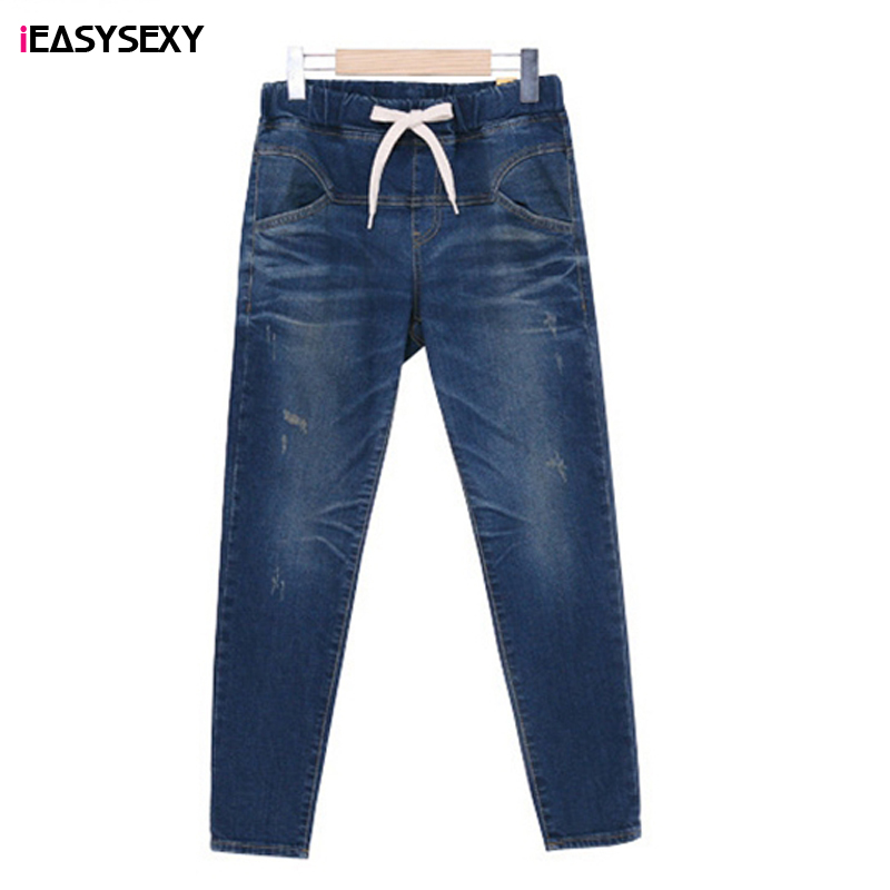 iEASYSEXY 2017 Jeans Pants Women Bounce Autumn Warm Jeans Women Add Wool Winter Elastic Waist Harem Pants Trousers Plus Size