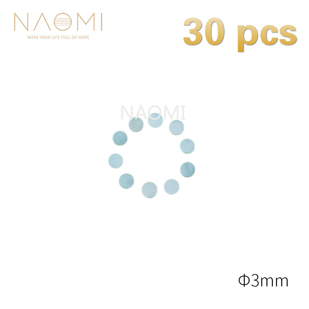 Sports & Entertainment Naomi 30 Pcs Guitar Dots 3mm White Mother Of Pearl Shell Fingerboard Dots W/inlay For Electric Guitar Ukulele Fingerboards #3mm