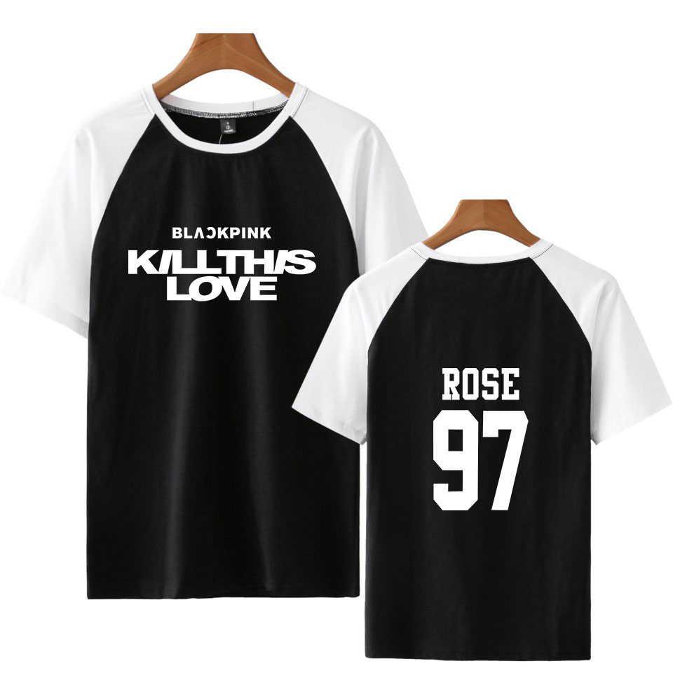 VAGROVSY Blackpink KILLTHISLOVE реглан футболки K-POP для женщин мужчин модные хлопковые короткий рукав футболка Летняя уличная одежда 2019