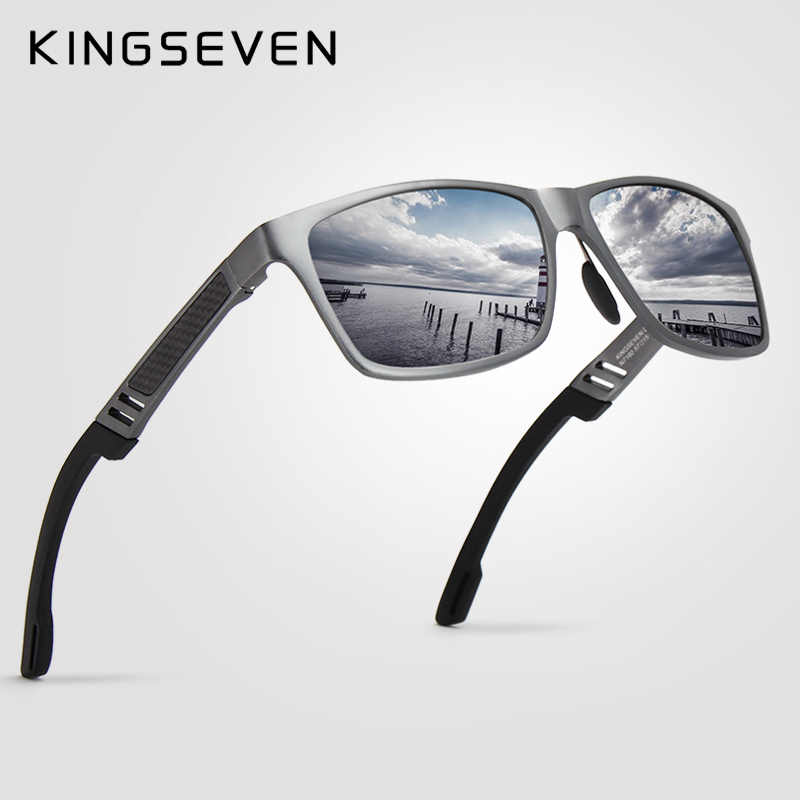 3ea1a07504 2018 New KINGSEVEN Polarized Sunglasses Men Brand Designer Male Vintage Sun  Glasses Eyewear oculos gafas de