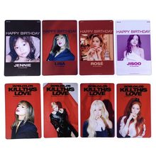 4 Pcs Kpop Blackpink PVC Clear Photo Card Jennie Rose Collective Cards Happy Birthday HD Photocard(China)